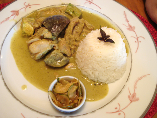 Frango ao Curry Verde