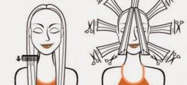 Corte repicado em camadas – cabelos longos