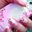 unhas decoradas flor rosa 135x135 Unhas Decoradas Românticas   Fotos