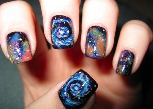 unhas cosmicas 1 Unhas Galaxy Print   Passo a Passo