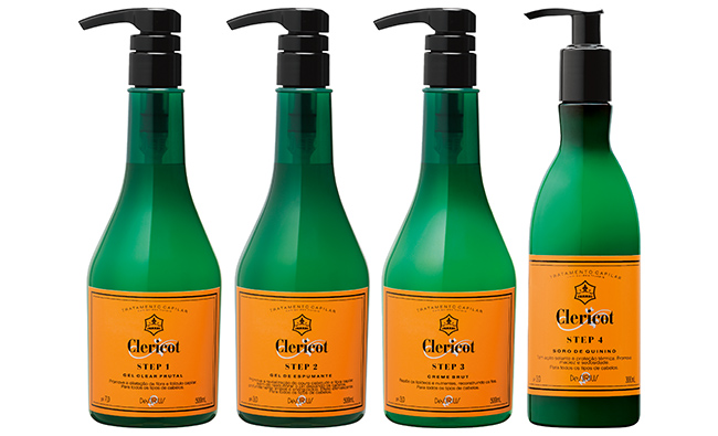 Clericot tratamento borbulhante para os cabelos